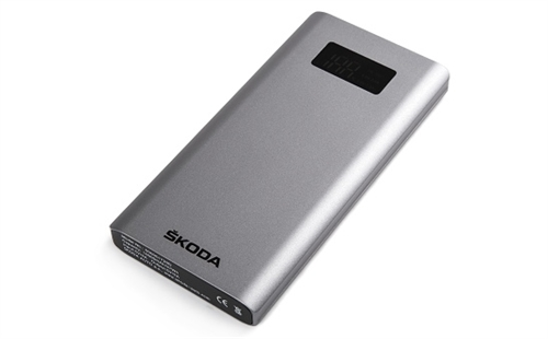 Metal farvet 10000 mAh powerbank